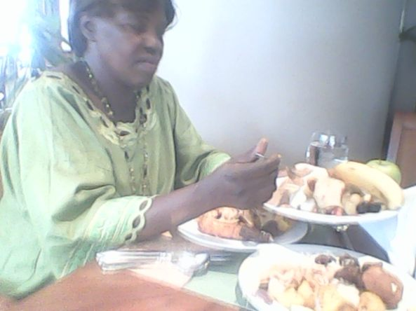 Kivumbi mom Queen Esther for lunch at Sheraton Hotel01
