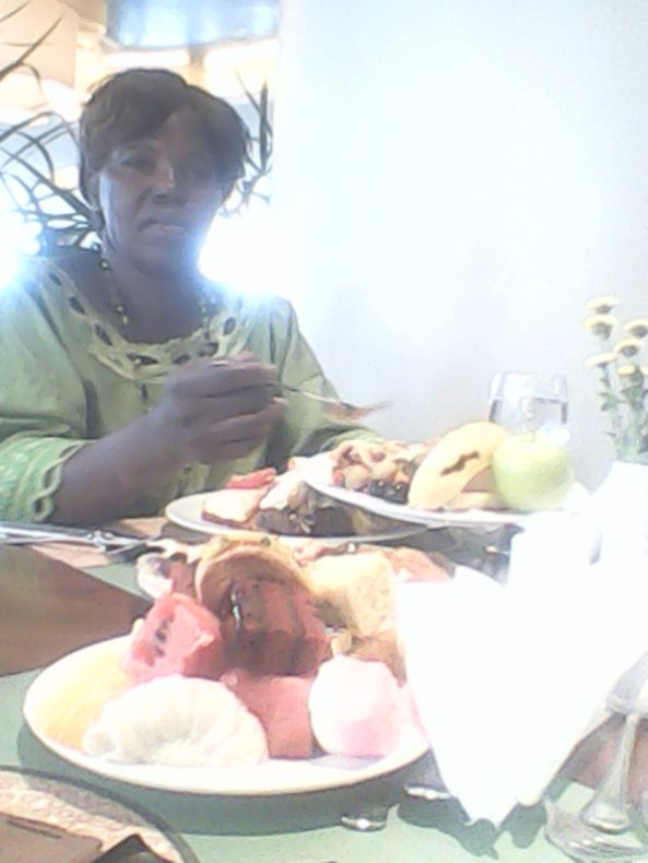 Kivumbi mom Queen Esther for lunch at Sheraton Hotel04