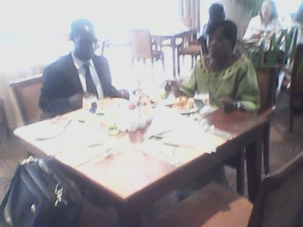 Kivumbi mom Queen Esther for lunch at Sheraton Hotel07