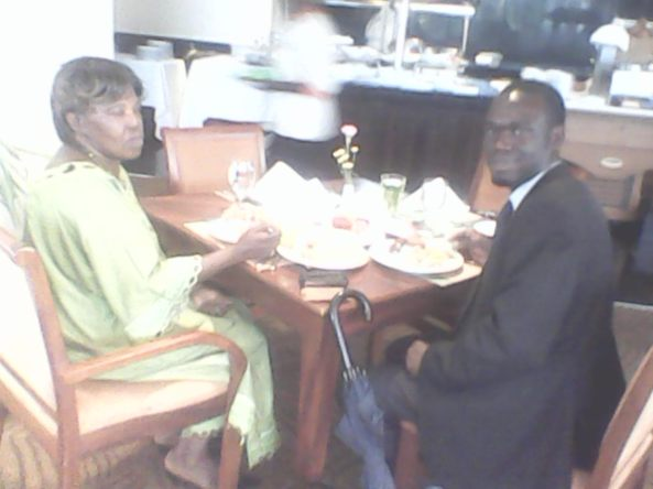 Kivumbi mom Queen Esther for lunch at Sheraton Hotel08