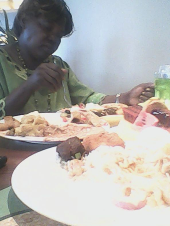 Kivumbi mom Queen Esther for lunch at Sheraton Hotel12