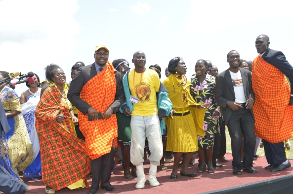 Kivumbi Earnest, MP Annite & Dacincing with Kalamajongs on Youth Day.JPG