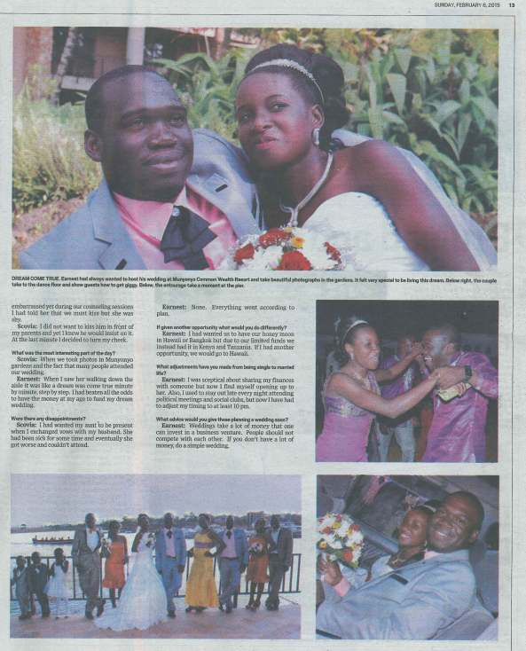 Sunday Monitor Coverage of Earnest Benjamin & Princess Scovia Kivumbi Wedding (5)