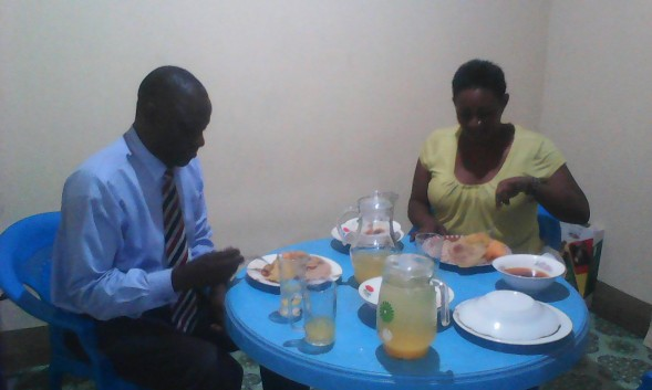 Dr Ronald & Mrs Kisolo at Hon Earnest Benjamin & Mrs Kivumbi Scovia 1st Wedding Anniversary (2)