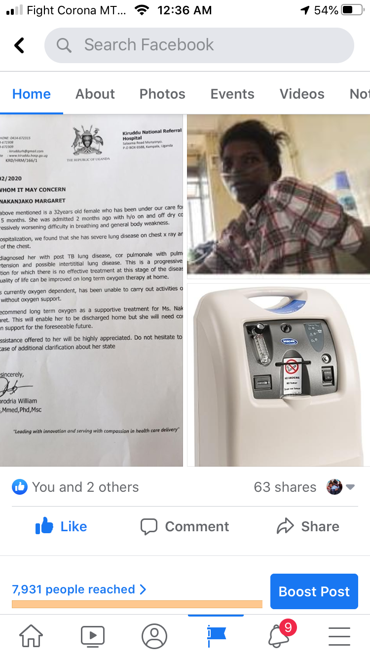 People donate for Nakanjako oxygen machine campaign; thank you.